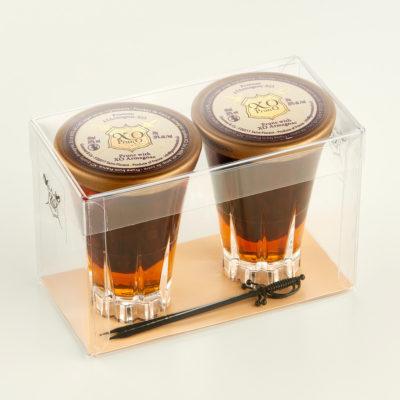 2 verres pruneaux de Corse armagnac