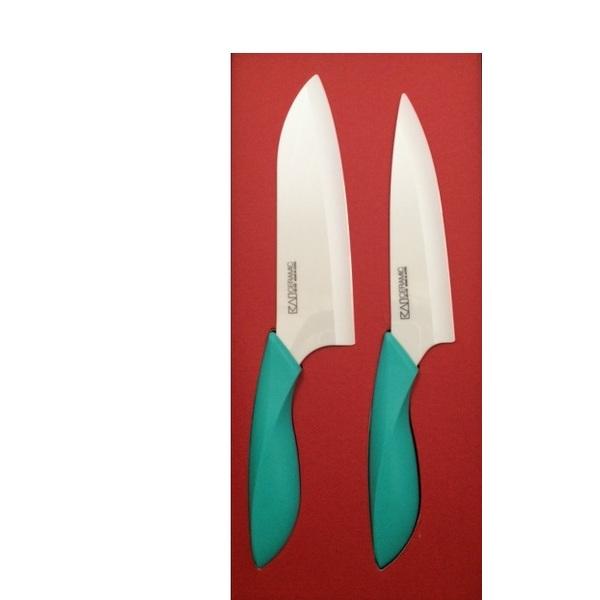 kai coffret de deux couteaux cramique vert - Coffret Couteau Ceramique